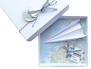 Amazon De Geldgeschenk Verpackung Reise Gutschein Flugzeug Fur