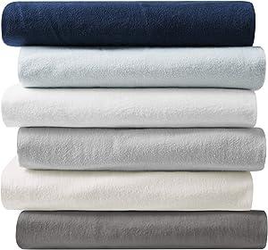 Brielle Home 100-Percent Cotton Flannel Sheet Set, Twin, Lunar Grey