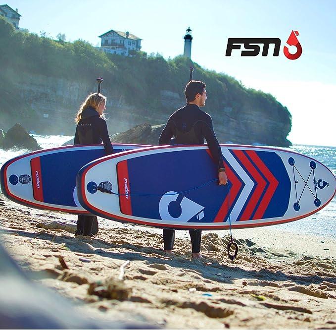 FSN Tabla Hinchable de Paddle Surf Nero 9 - Incluye Remo ...