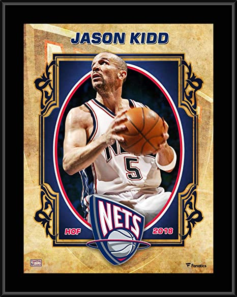 "e8b05391 Image Unavailable. Image not available for. Color: Jason Kidd New Jersey  Nets 10.5"" x 13"" Sublimated Hardwood Classics ..."