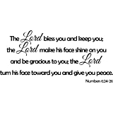 Wall Decal Quote Numbers 6:24-26 The Lord Bless You Vinyl Wall Art Sticker Decor Sign