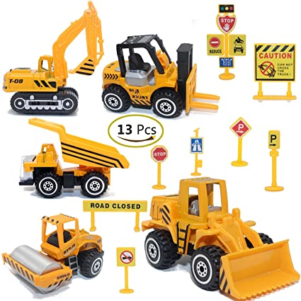 amazon com construction toys sets 5 pieces mini vehicles
