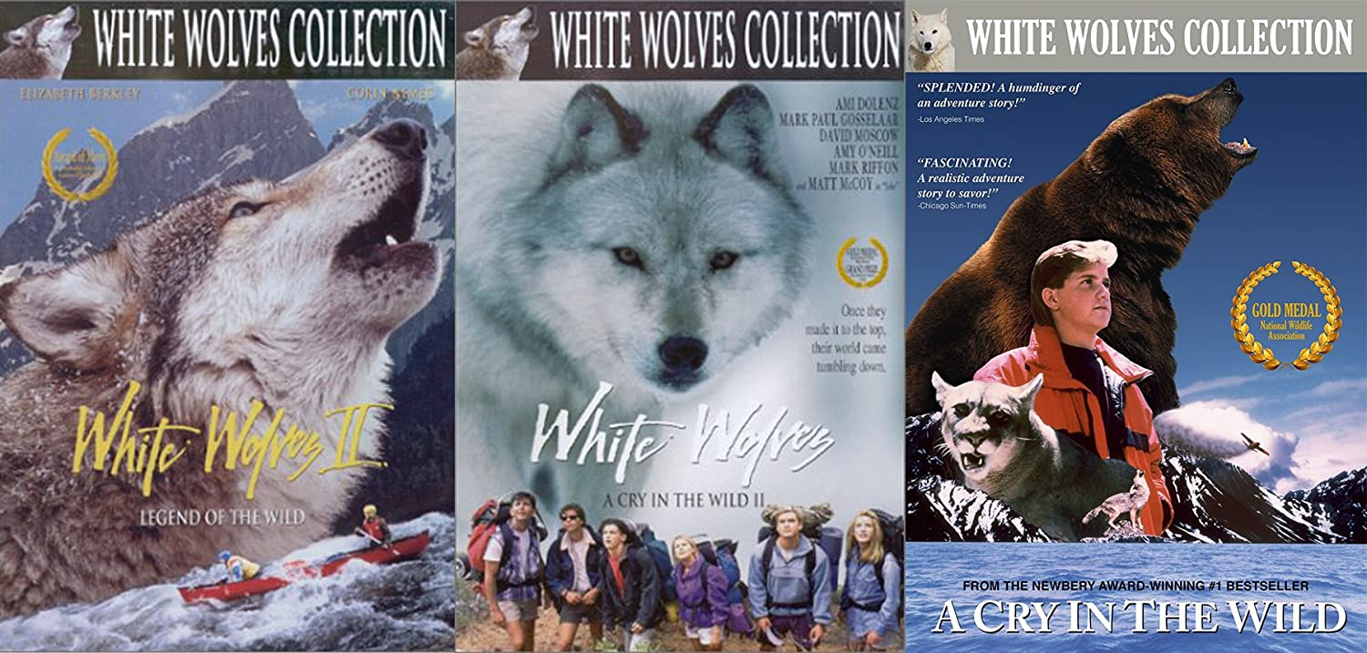 White Wolves Collection Triple Pack - A Cry In The Wild / Part II / Legend of the Wild Adventure series 3 movie set
