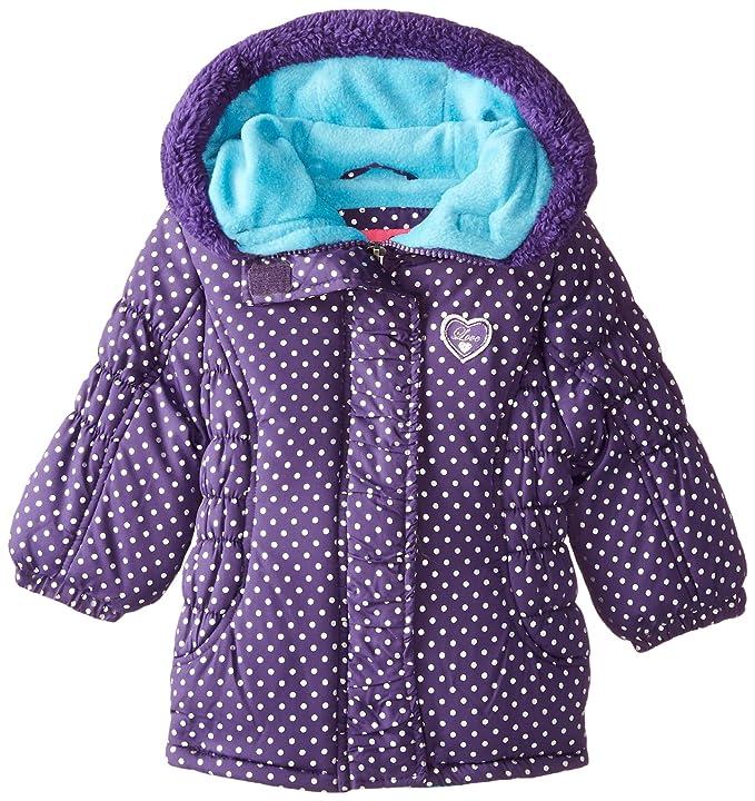 75271d289 Amazon.com  Pink Platinum Baby Girls  Foil Dot Puffer