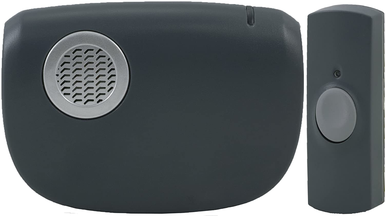 GE 19240 Beltclip, LED Light Wireless Portable Door Chime
