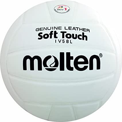 Molten IV58L - Balón de Voleibol (Talla 5), Color Blanco: Amazon ...
