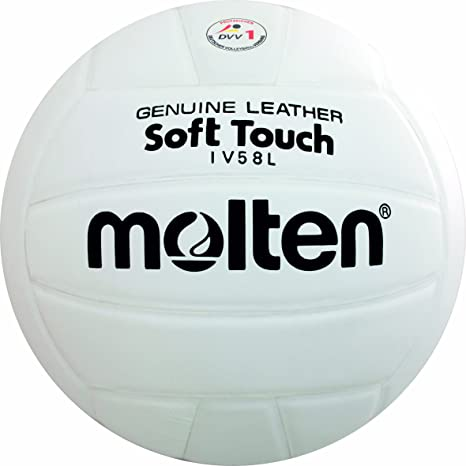 Molten IV58L - Balón de Voleibol (Talla 5), Color Blanco: Amazon ...