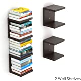 Bluewud Alvin Wall Mount Book Shelf Rack/Display Case (Set of 2) - Ideal for Diwali Gift.