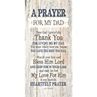 """Dad Father Wood Plaque Inspiring Quotes 6 3/4"""" x 13 5/8"""" - Classy Vertical Frame Wall Decoration   Keyhole on Back for…"""