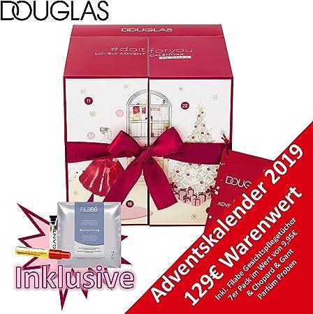 Douglas Calendario de Adviento Beauty 2019 – Calendario de Adviento ideal para la mujer, calendario de belleza por valor de 129 €, calendario de cosméticos con 24 productos para mujer, maquillaje, lápiz labial: Amazon.es: Hogar