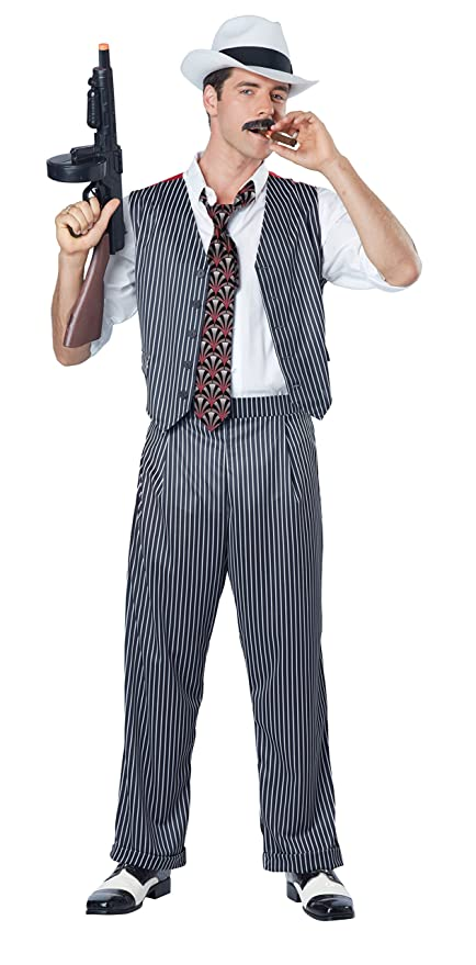 1920s Gangster Costume- How to Dress Like Al Capone California Costumes Mens Mobster $39.99 AT vintagedancer.com