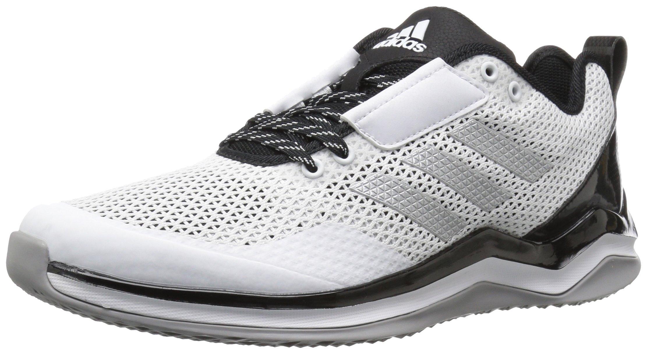 adidas Men's Freak X Carbon Mid Cross Trainer, White/Metallic Silver/Black, (11 M US)