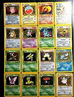 Amazon.com: Pokemon COMPLETE BASE SET 102/102 CARDS Holos ...