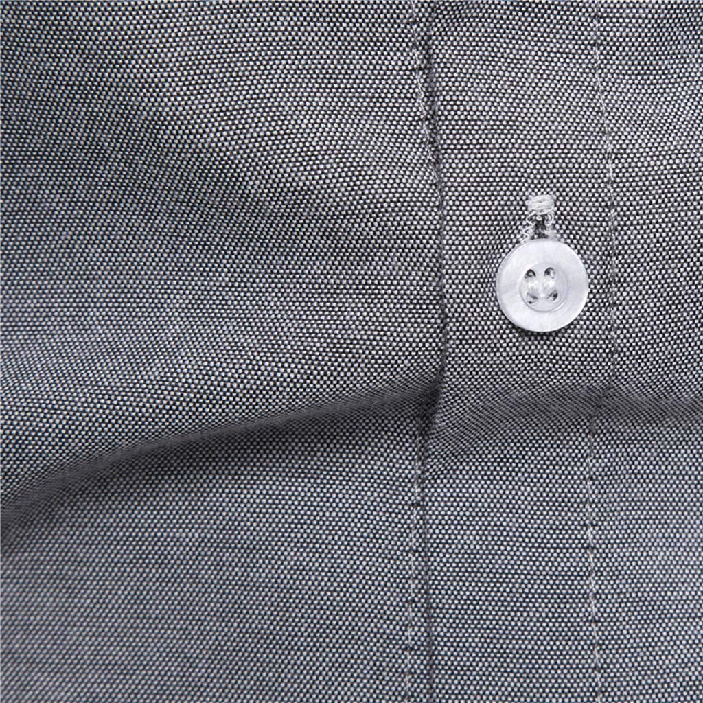 GLVSZ Mens Summer Casual Contrast Color Dress Shirt Short Sleeve Pocket Tops Tee