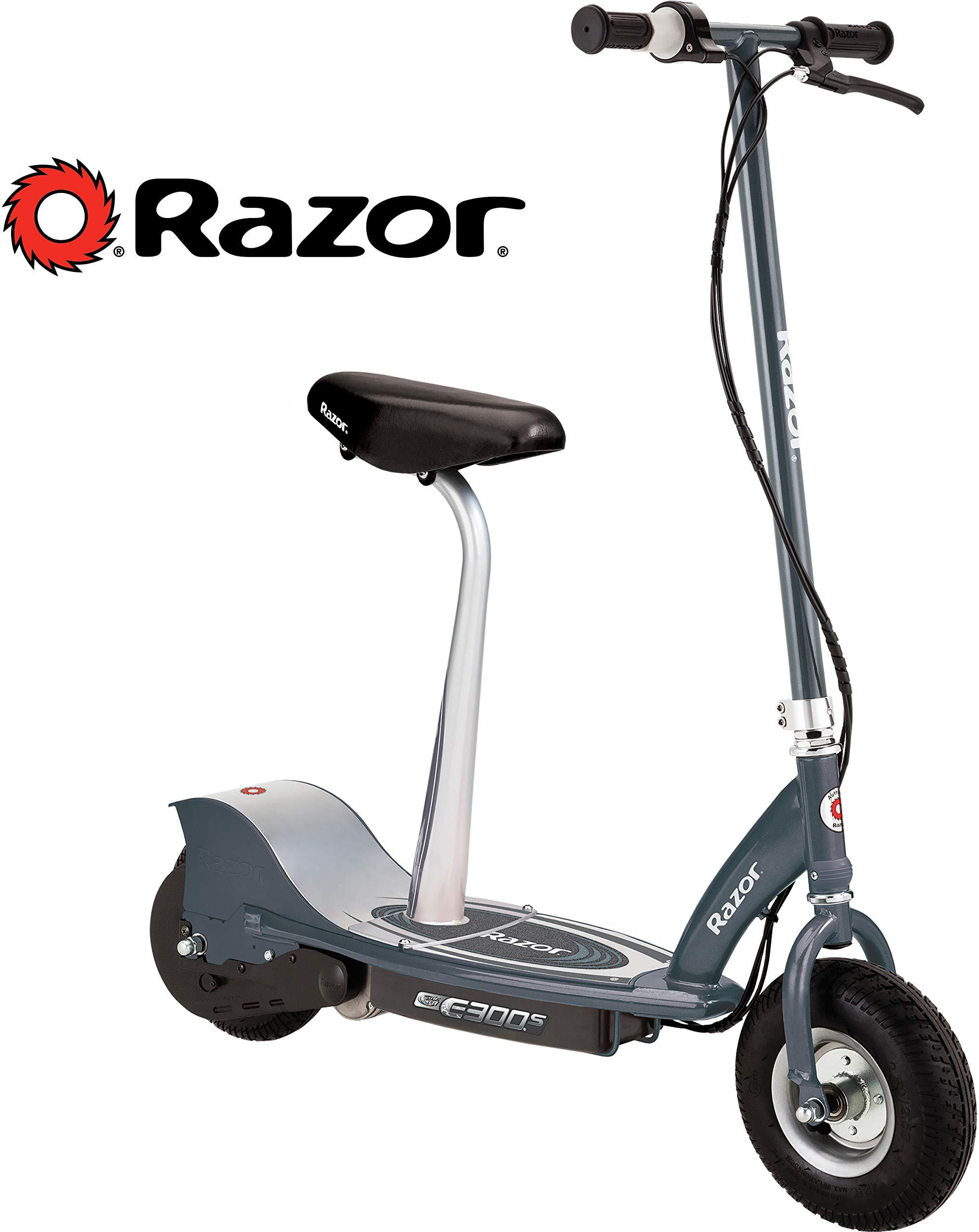 Razor E300S Seated Electric Scooter - Matte Gray by Razor