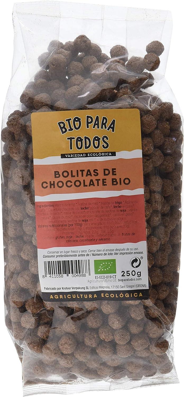 Bio para todos Bolitas de Chocolate Bio - 10 Paquetes de 250 gr ...