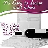 Wine Bottle Labels, 40 Blank Water Resistant Wine