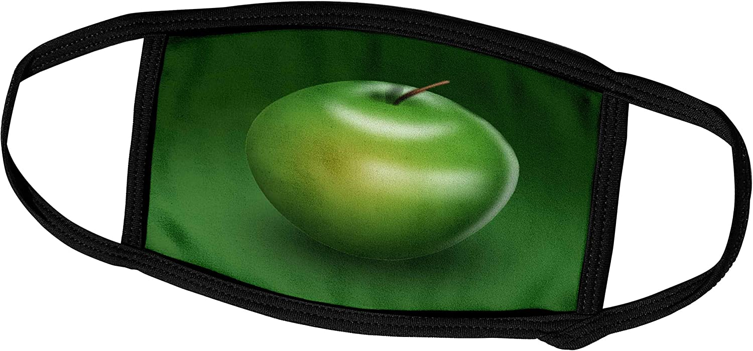 3dRose Delicious Green Apple Digital Representation of Fruit - Face Covers (fc_26779_1)