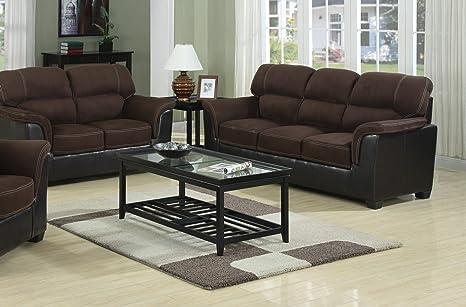 Amazon.com: Maison Muebles 2 Pcs 2 tono color piel sintética ...