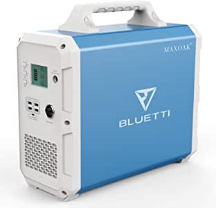 MAXOAK Portable Power Station BLUETTI EB150 1500Wh AC110V/1000W Camping Solar Generator Lithium Emergency Battery Backup with 2 AC outlet Pure Sinewave,DC12V,USB-C for Outdoor Road Trip Travel Fishing