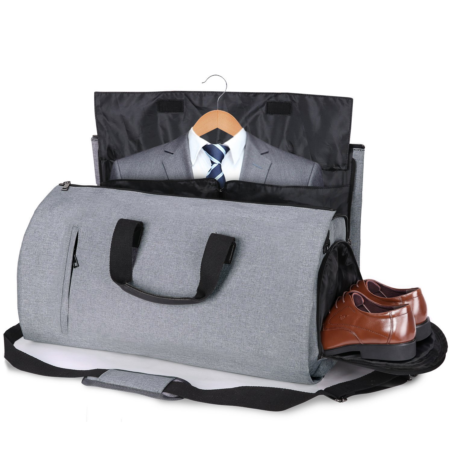 Carry-on Garment Bag Suit Travel Bag Duffel Bag Weekend Bag Flight Bag Gym Bag - Grey