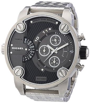 0516db8521026 Diesel - DZ7259 - Montre Homme - Quartz Chronographe - Bracelet Acier  Inoxydable Plaqué Argent