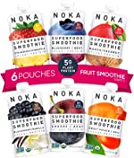 NOKA Superfood Smoothie Pouches 6 Pack (Variety) | 100% Organic Healthy