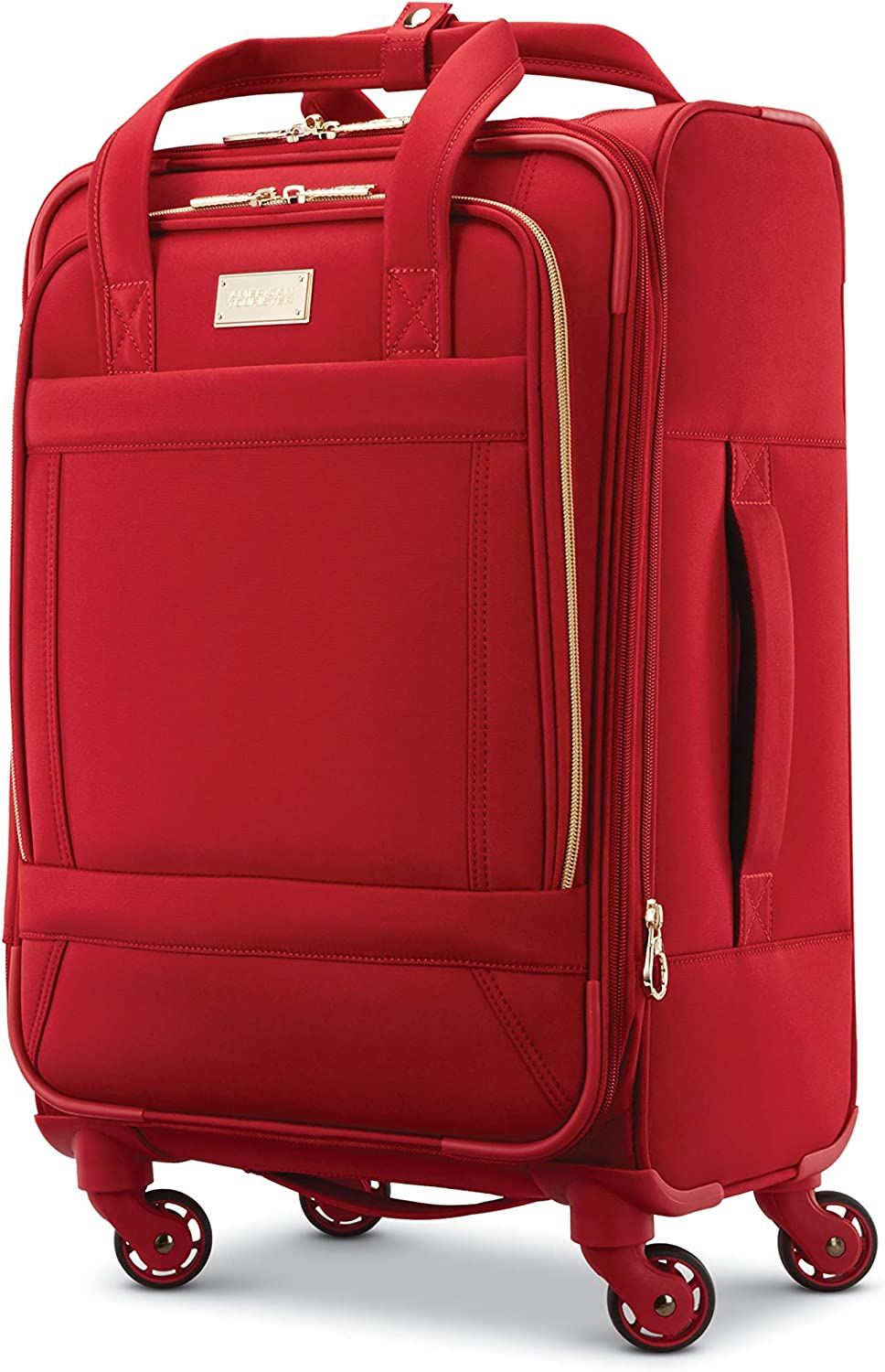Black Checked-Large 28-Inch American Tourister Belle Voyage Hardside Luggage with Spinner Wheels