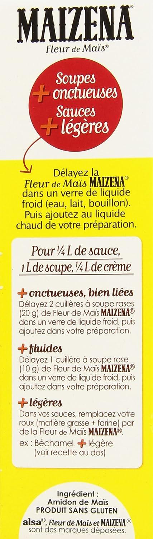 Maizena Fleur De Mais Sans Gluten 400g Amazon Fr Epicerie