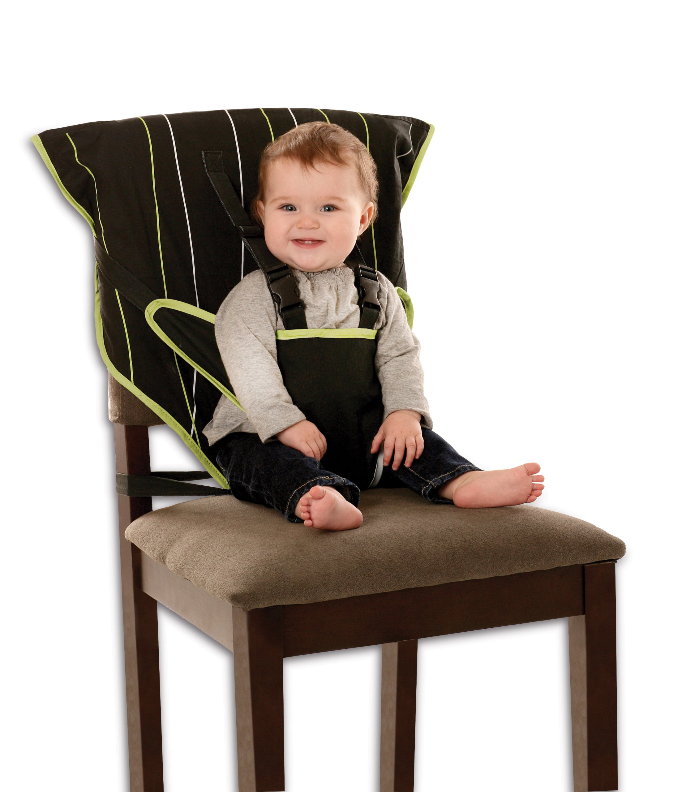 Cozy Cover Easy Seat Portable High Chair (Black) - Quick, Easy, Convenient Cloth Travel High Chair Fits in Your Hand Bag So That You Can Have It With You Everywhere For a Happier, Safer Infant/Toddler