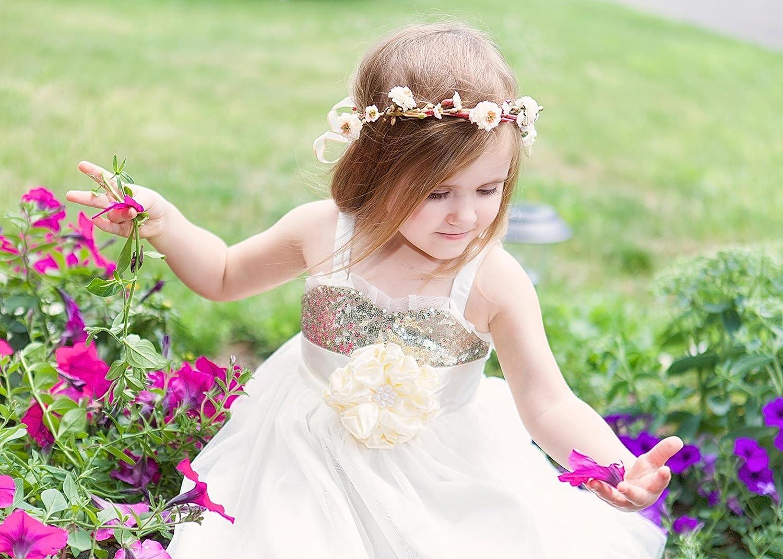 72074d6fb7 Pink Gold Flower Girl Dress - Gomes Weine AG