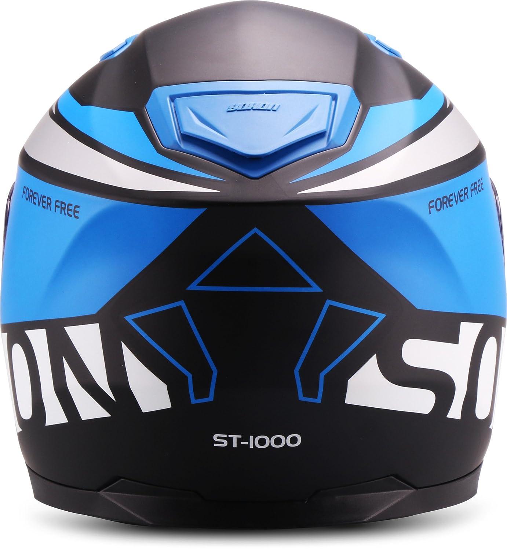 """63-64cm Gelb Soxon  ST-1000 Race /""""Yellow/"""" Sonnenvisier  XXL Integral-Helm  Sturz-Helm Roller Full-face Motorrad-Helm Cruiser Scooter-Helm  ECE zertifiziert  inkl"""