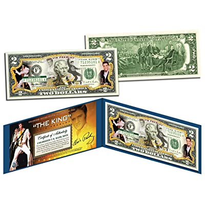 ELVIS PRESLEY * The King * Legal Tender U.S. $2 Bill * OFFICIALLY LICENSED *: Toys & Games