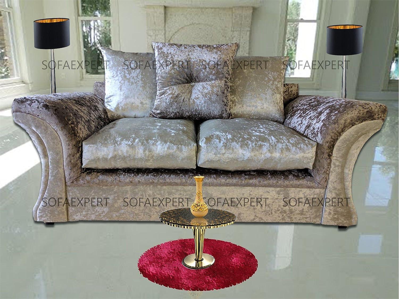 Sofá de terciopelo arrugado, de la marca Sofa Expert, modelo ...