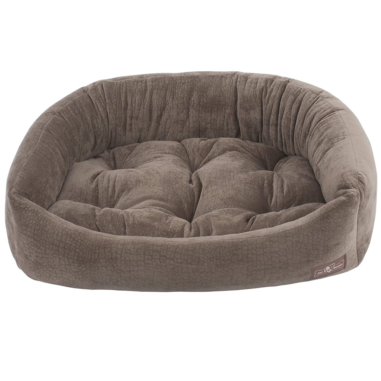 Jax and Bones Ripple Velour Napper Dog Bed