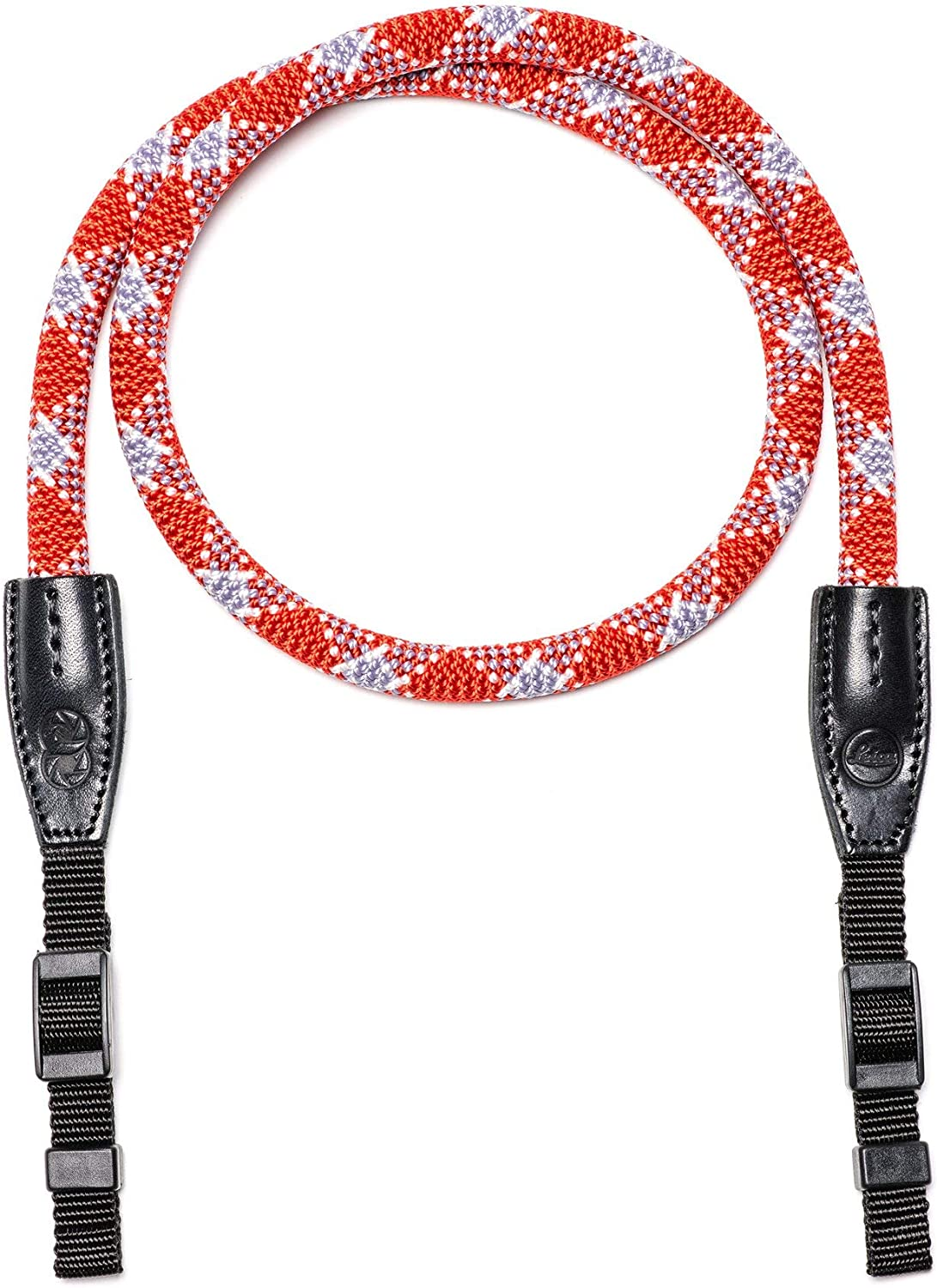 Nylon red Check 100 cm Leica Rope Strap Cooph