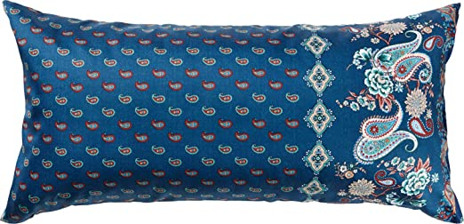 Bassetti FABRIANO Funda de cojín, algodón, Azul, 40 x 80 cm ...