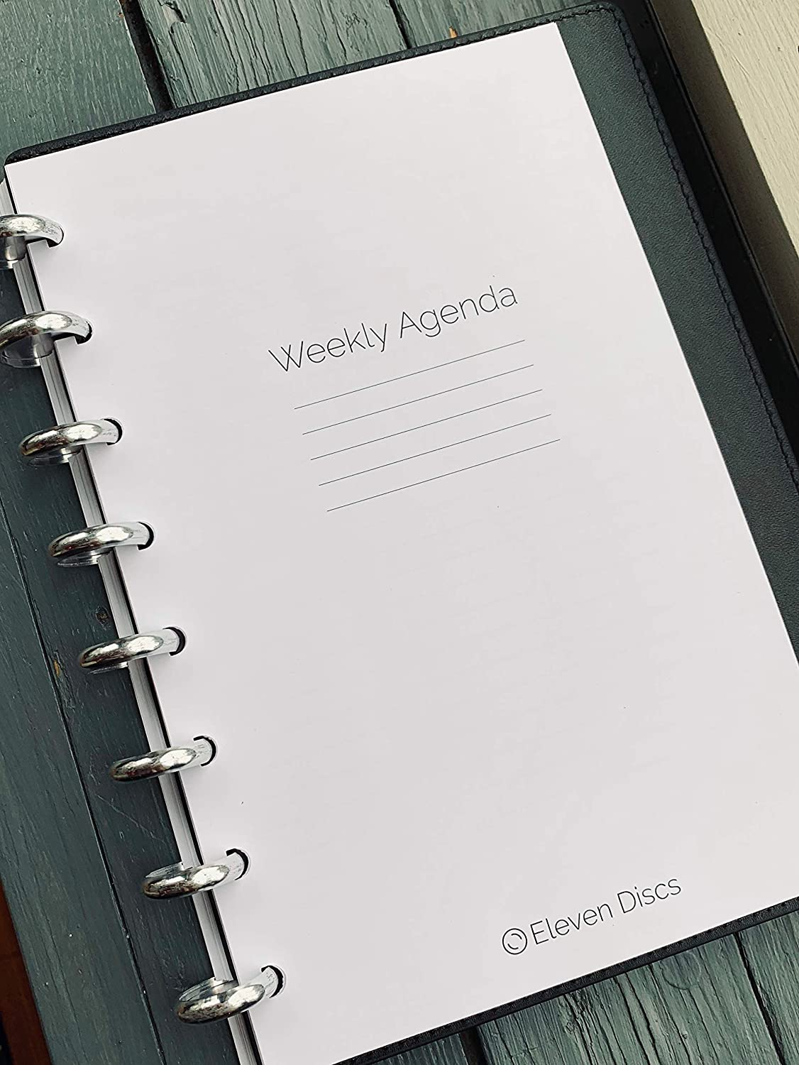 Undated Vertical Weekly Agenda Discbound Premium Heavyweight Junior Notebook Paper Refills Punched for Circa, Arc, TUL (52 Sheets)