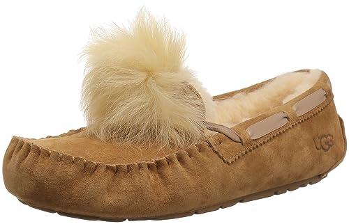 UGG Mujer Dakota Zapatillas de Casa Pom Pom Chestnut Chestnut 39: Amazon.es: Zapatos y complementos