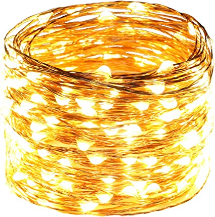 Warm White LED String Copper Wire Fairy Xmas Party wedding Decoration Lights
