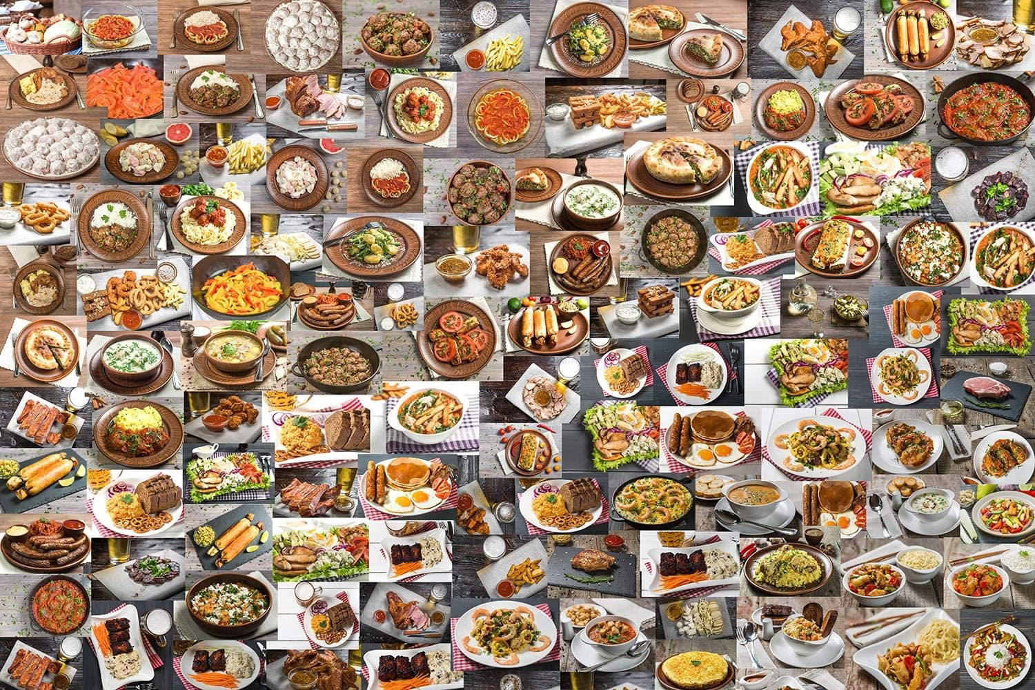 Food Puzzle for Adults, Kids, and Families | 1000 Piece Jigsaw Puzzle | Challenging Puzzle Toy | Fun Puzzle Games for Family Game Night | 28 x 20 inches