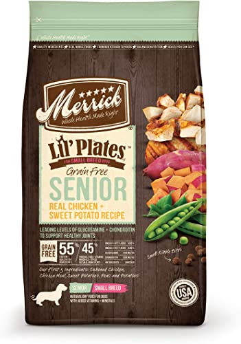 Merrick Lil Plates Small Breed Grain Free Real Chicken Sweet Potato Small Breed Senior Dry Dog Food