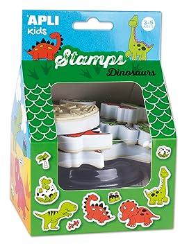 APLI Kids - Caja sellos Dinosaurios con tinta