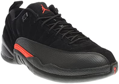 6cc08fba696cd5 Air Jordan 12 Retro Low Men s Basketball Shoes Black Max Orange-Anthracite  308317-