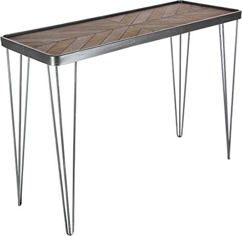 Deco 79 39 29 Metal And Wood Console Table, 39 x 29 , Brown Silver