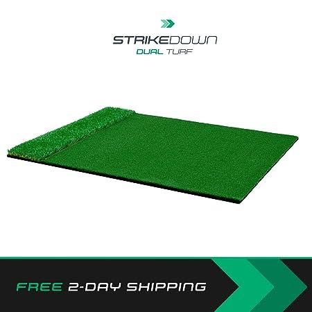 Motivo Golf StrikeDown Dual-Turf Plus Golf Hitting Mat 2 x 3 Feet Free Two-Day Delivery