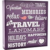 """ARPAN 6"""" x 4"""" 200 Photos Large Slip in Photo Album Special Purple Memo Book - With Index Page/DVD Pockets"""