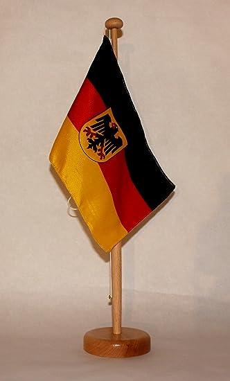 Nordrhein Westfalen NRW Tischflagge 15x25 cm in Profiqualit/ät Tischst/änder wahlweise mit oder ohne 42 cm Massivholz