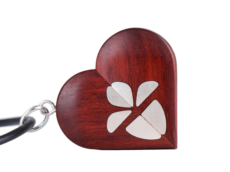 LMWood The illusionist locket médaillon, Le médaillon illusionniste, collier médaillon photo, pendentif coeur en bois Médaillon Médaillon Médaillon en forme de coeur LEE
