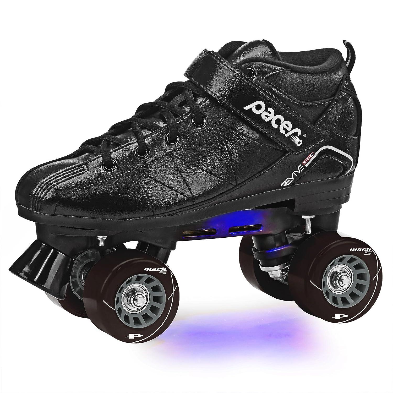 Pacer再活性化ライトアップRoller Skates B07JDGZXTH Kids 2|ブラック ブラック Kids 2